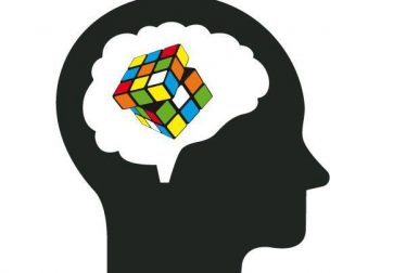 man with rubic's cube in the brain